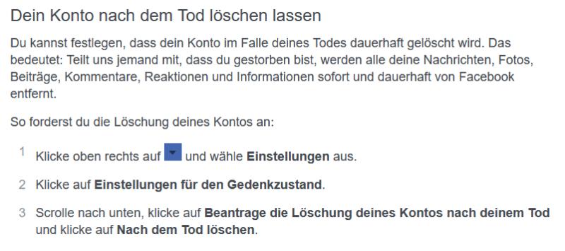 Facebook_Löschung nach Tod